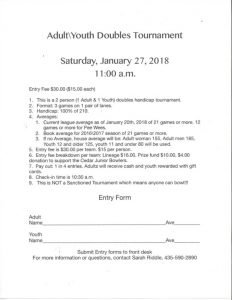 Youth Adult Bowling Tournament